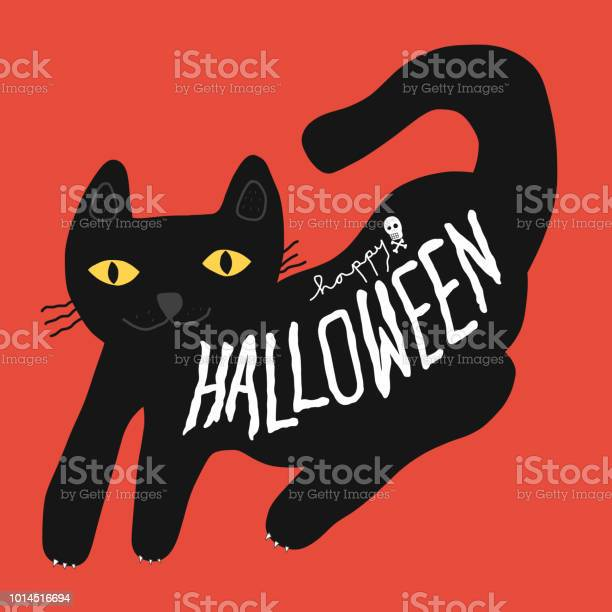 Happy halloween black cat cartoon vector doodle illustration vector id1014516694?b=1&k=6&m=1014516694&s=612x612&h=5vbafgpvt3ymvowmc947irhicijwmvgjf6mj0 a9ye0=