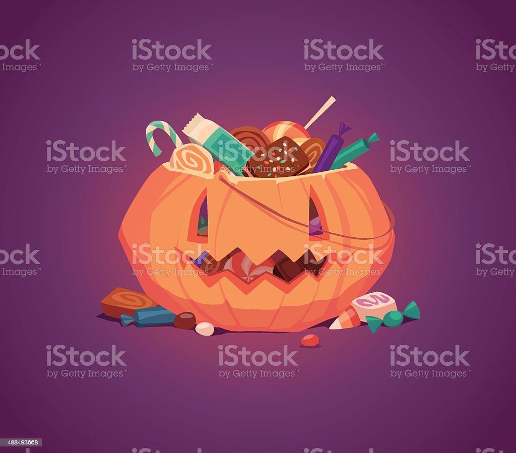 Happy Halloween card, background, poster. Vector illustration. vector art illustration