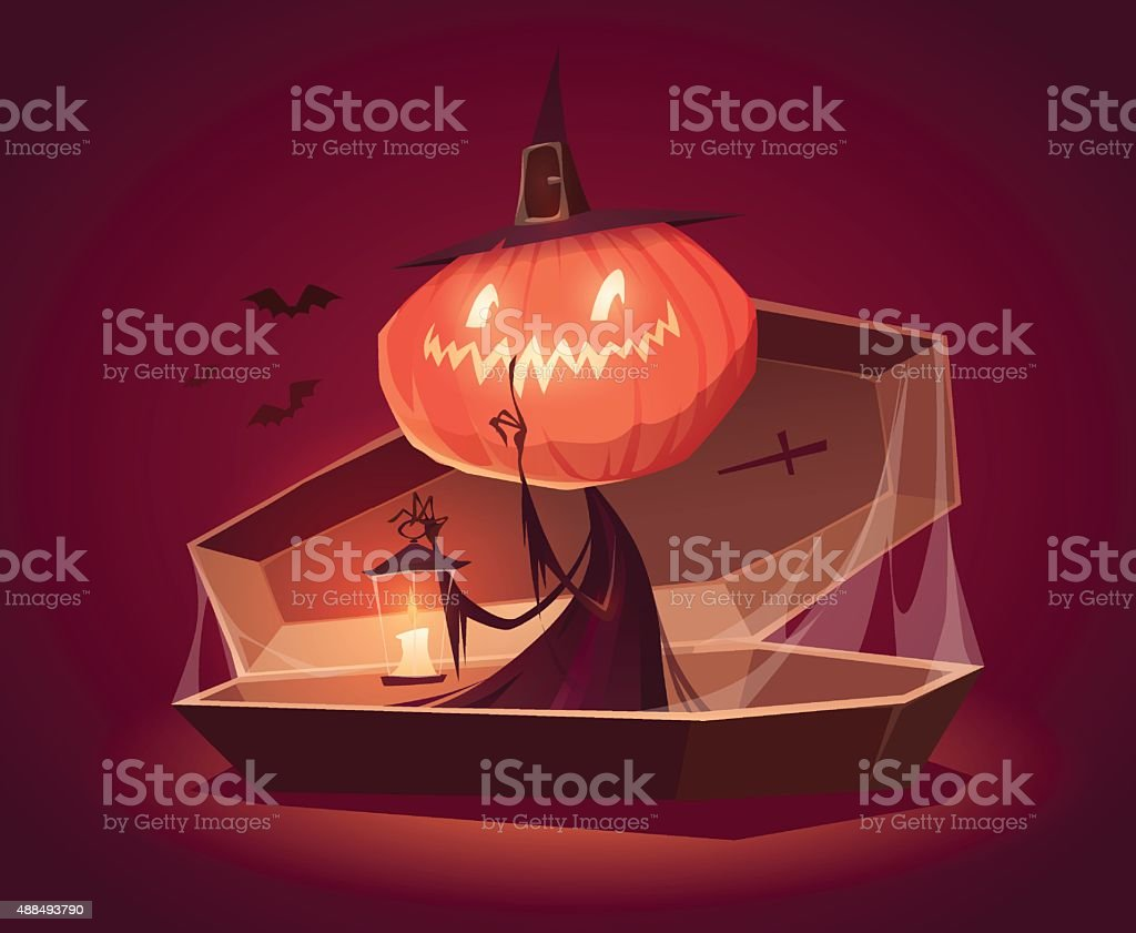 Happy Halloween card, background, poster. Vector illustration. vector art illustration