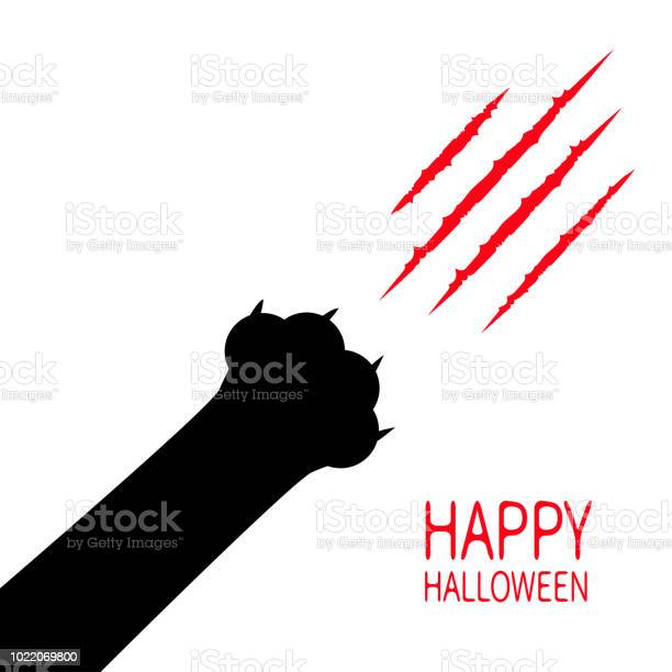 Happy halloween card bloody claws animal scratch scrape track black vector id1022069800?b=1&k=6&m=1022069800&s=612x612&h=q11y htdezhyl1jvypive7dqoousd vpzxk4riqifem=