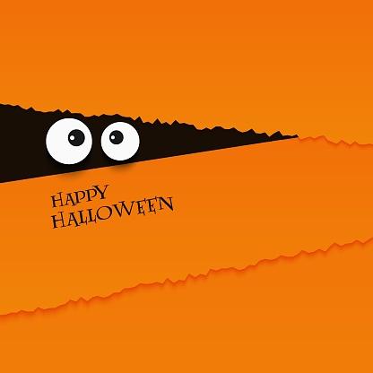 happy halloween card eyes vector illustration background