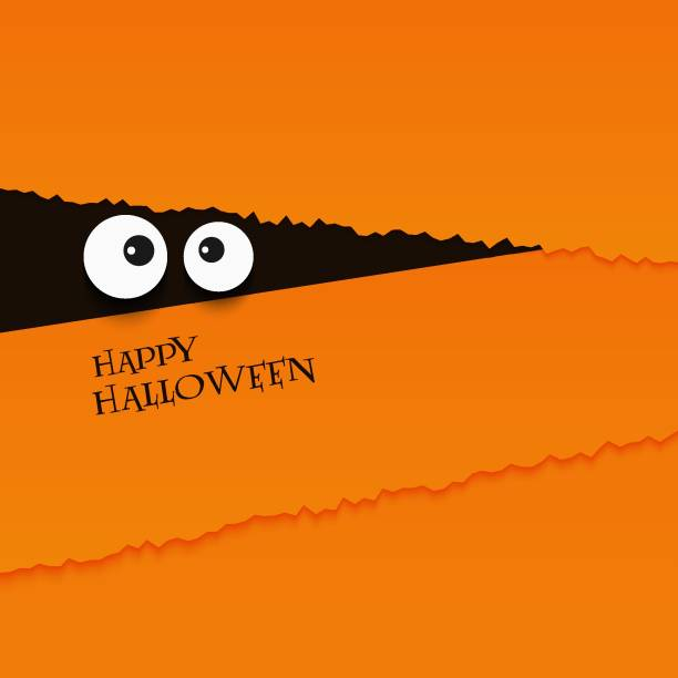 happy halloween card eyes vector illustration background - halloween candy stock illustrations