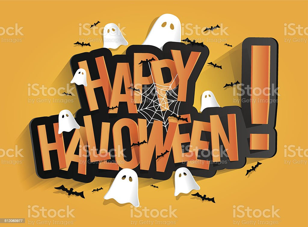 Happy Halloween Card vector art illustration