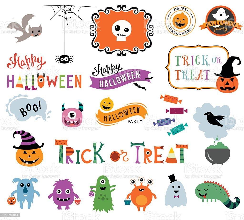 Happy Halloween Collection - ilustración de arte vectorial