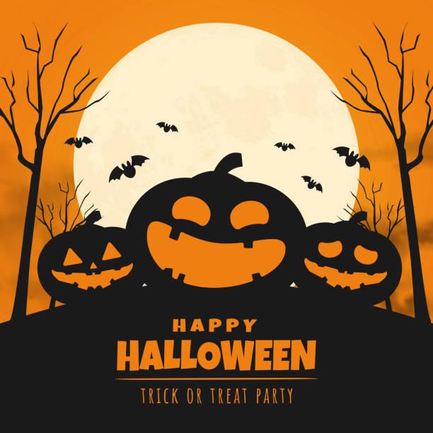 illustrazioni stock, clip art, cartoni animati e icone di tendenza di felice design striscione giorno di halloween. illustrazione vettoriale - halloween