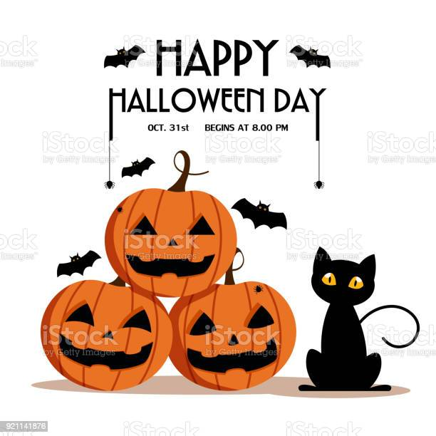Happy halloween day bat and spider on text cute pumpkin smile spooky vector id921141876?b=1&k=6&m=921141876&s=612x612&h=axf6wv3ke8ag  sbvzbkcoxmwk7swgbfbn8yleyuwno=