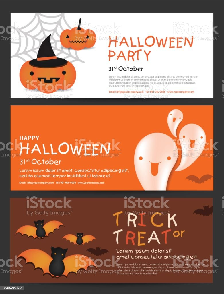 Happy Halloween Day Gift Voucher Coupon Banner Ticket Card Promotion Template Vector Illustration Stock Illustration Download Image Now Istock