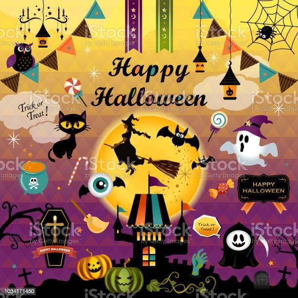 Happy halloween design elements set halloween design icons elements vector id1034171450?b=1&k=6&m=1034171450&s=612x612&h=6rgbr1khtut4kv9jygdcb22  iiglmobgin6fjo ngm=