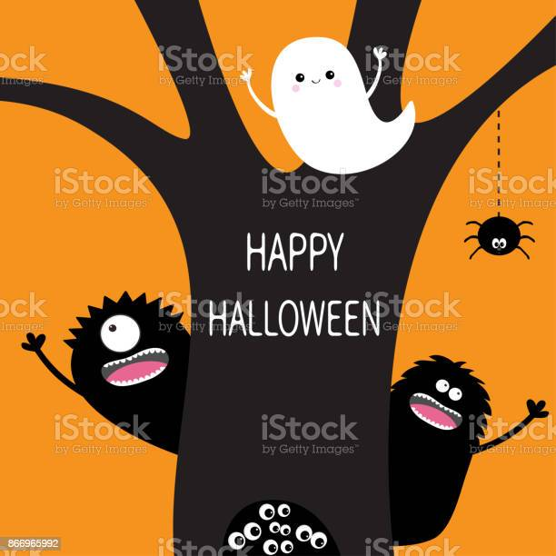 Happy halloween flying ghost hanging spider dash line web monster eye vector id866965992?b=1&k=6&m=866965992&s=612x612&h=kbnzbbcddt gaqjrxc1q 3xbbb8b2w9y9cxxm3yozqo=