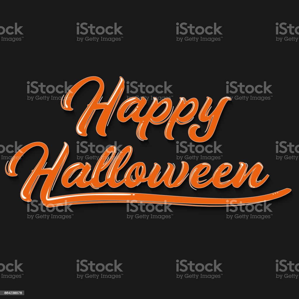 Happy Halloween graffiti typography. Vector illustration. royalty-free happy halloween graffiti typography vector illustration stock vector art & more images of art