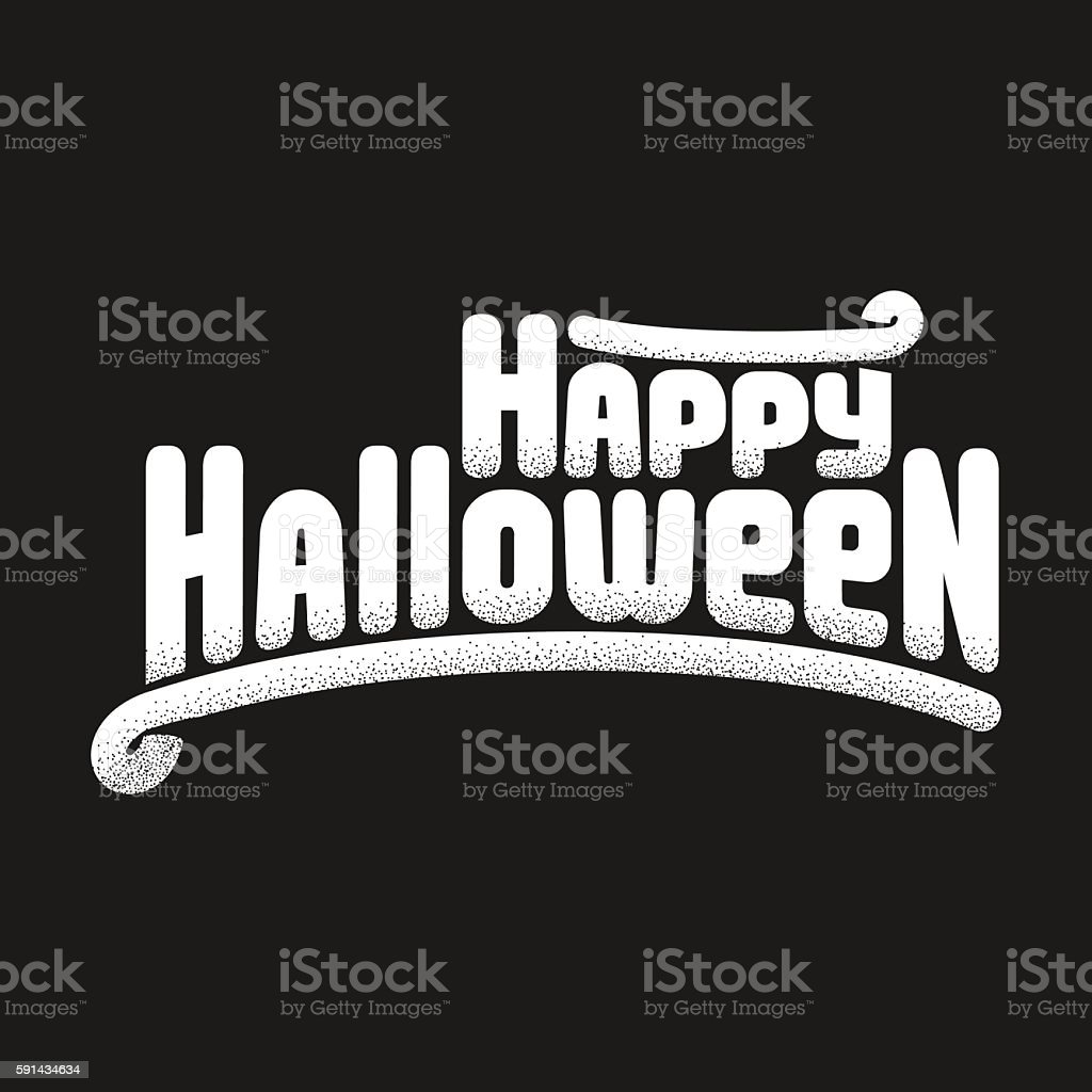 Happy halloween greeting card text stock vector art more images of banner sign halloween holiday event message sign happy halloween greeting m4hsunfo