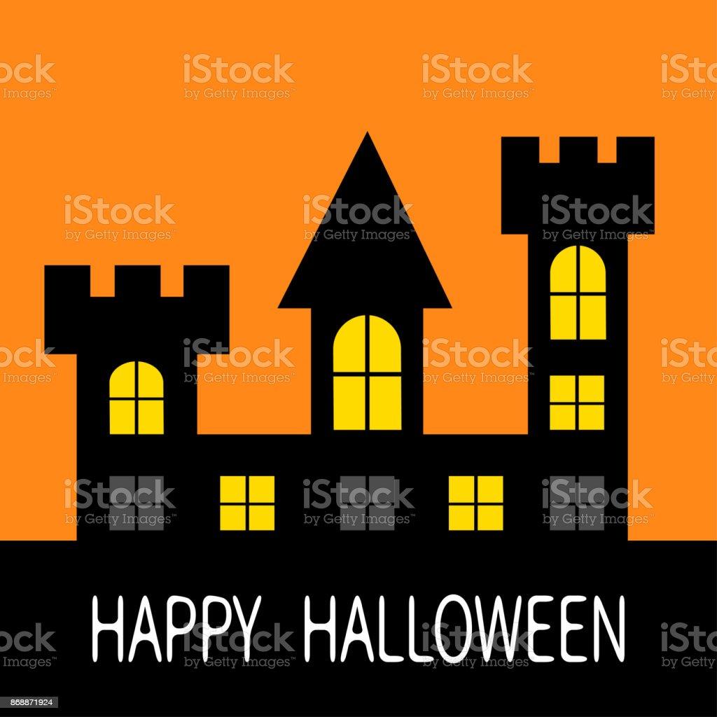 Joyeux Halloween Silhouette De Tour Maison Hantée Château