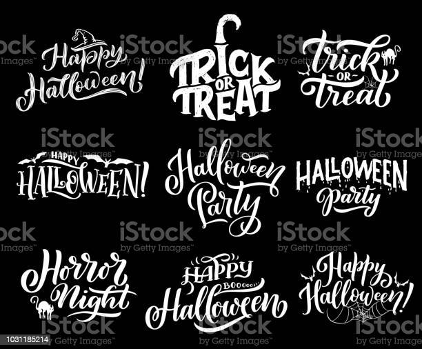 Happy halloween holiday vector lettering vector id1031185214?b=1&k=6&m=1031185214&s=612x612&h= io0w omcwto4xu9u18waemahg7qgfndtdm6rzrpatq=