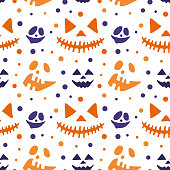 Happy Halloween set illustration. Background for your design