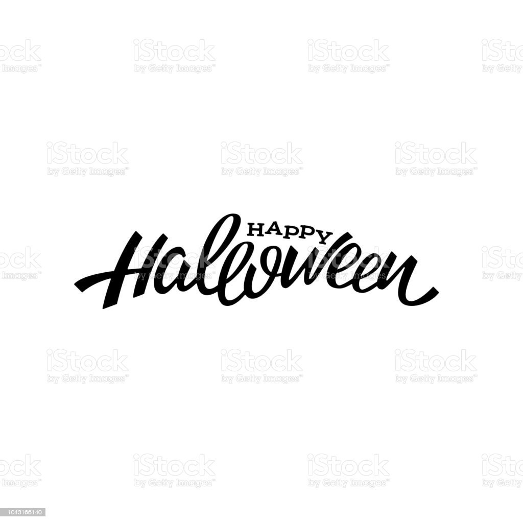 happy halloween lettrage design illustration vectorielle de