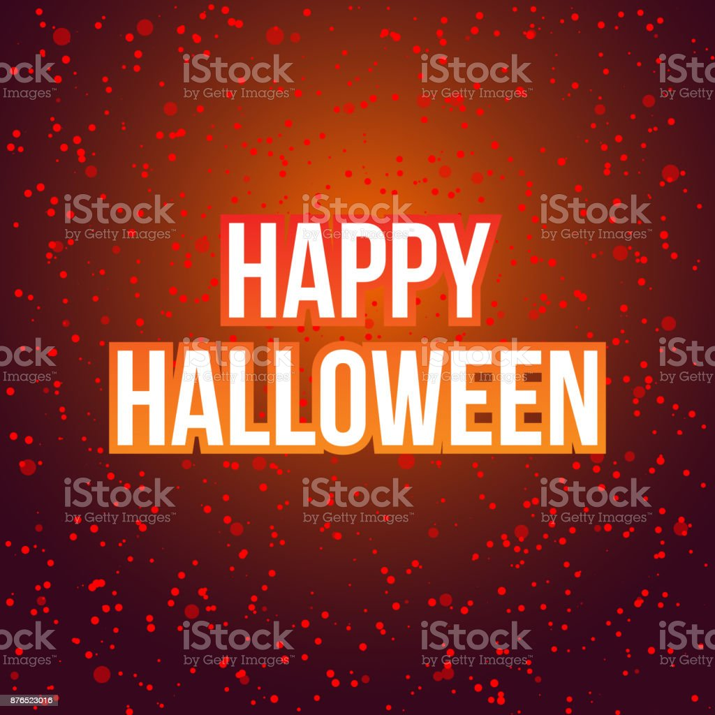 Happy Halloween Lettering Greeting Card With Blood Spits Scary Post