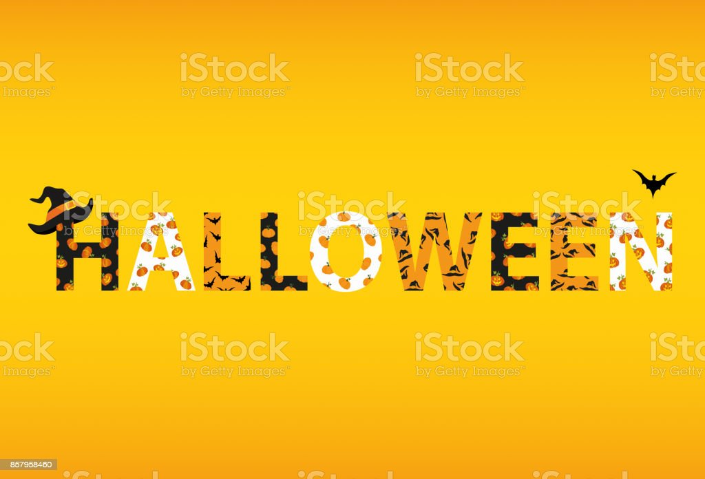 happy halloween lettering vector words for invitations to a party or