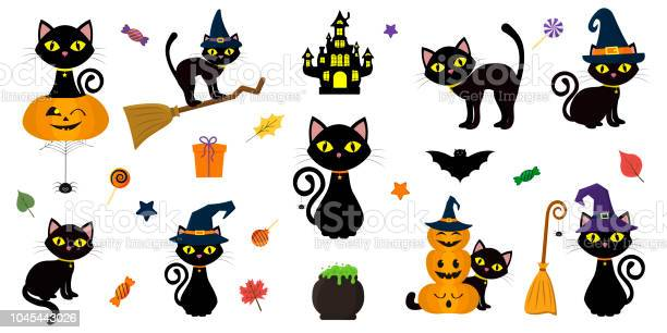Happy halloween mega set of black cat with yellow eyes in different vector id1045443026?b=1&k=6&m=1045443026&s=612x612&h=wwfdylccdu770z7f 5kyol8vle axstcafrwedok z4=