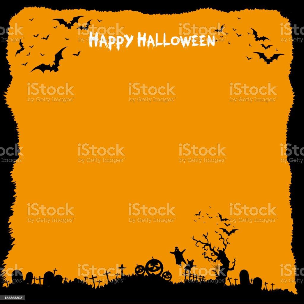 happy halloween message design background stock vector art & more