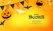 Halloween, Pumpkin, Party - Social Event, Trick Or Treat, Holiday - Event, Ghost, Banner - Sign