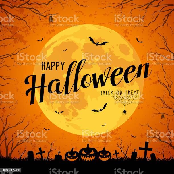 Happy halloween message yellow full moon and bat on tree vector id1033805286?b=1&k=6&m=1033805286&s=612x612&h=yvsp5frwpedkyr433idevjdicm6ocesn0bywz5la8pe=