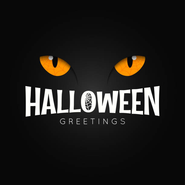 Happy halloween night holiday background Happy halloween night holiday background 10 eps halloween cat stock illustrations