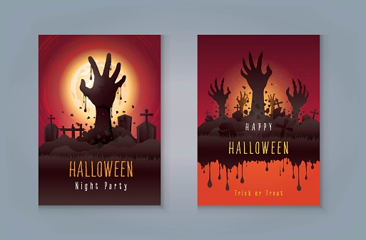 Happy Halloween Night Party greeting card