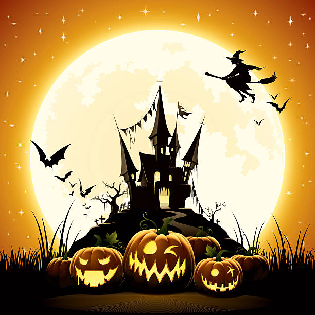 happy halloween night - halloween stock illustrations, clip art, cartoons, & icons