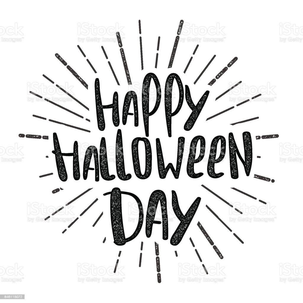 happy halloween party lettering royaltyfree stock vector art