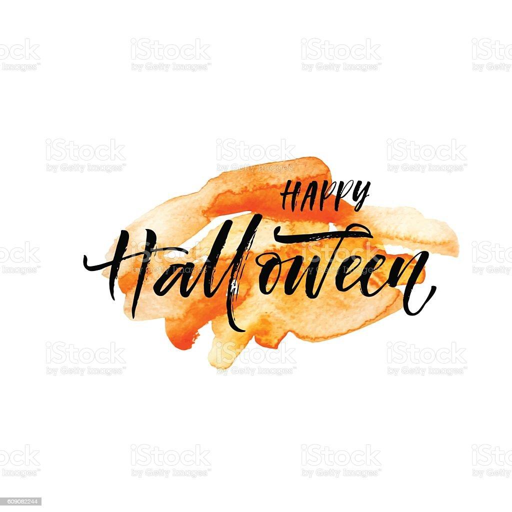 Happy Halloween postcard. vector art illustration