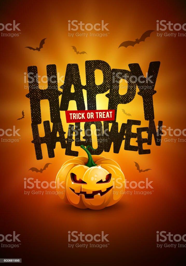 Happy Halloween Poster Design vector art illustration