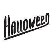 Happy Halloween poster modern brush calligraphy
