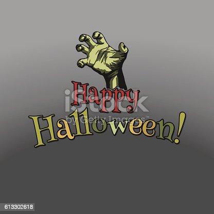 istock Happy Halloween poster 613302618