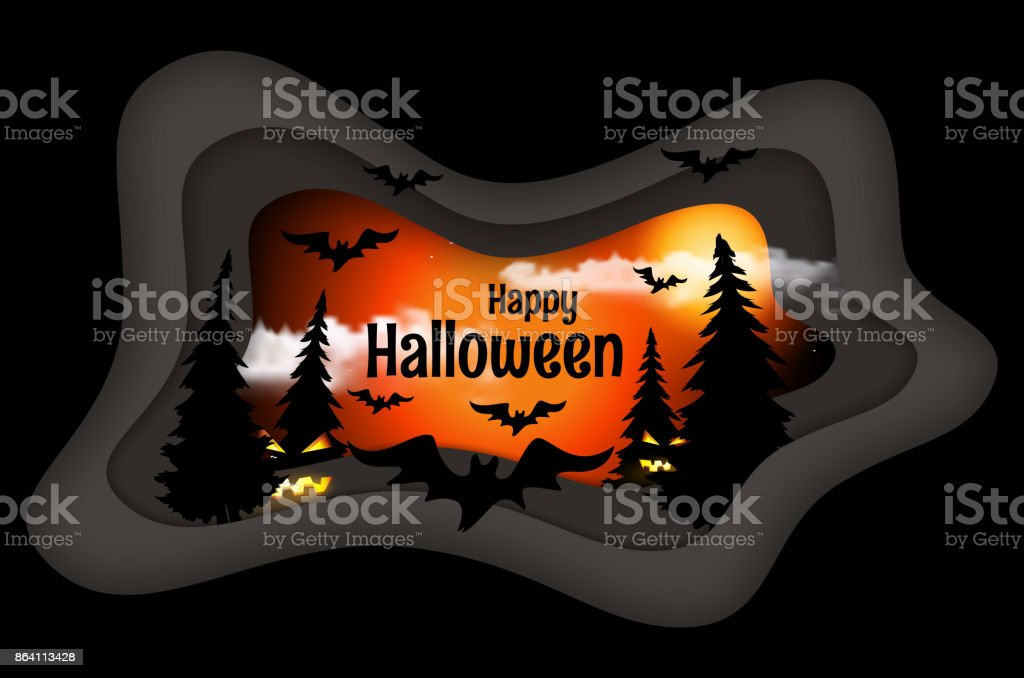 Happy Halloween poster. royalty-free happy halloween poster stock vector art & more images of abstract