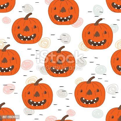 Ilustración de Impresión De Feliz Halloween Con Calabaza Plantillas ...