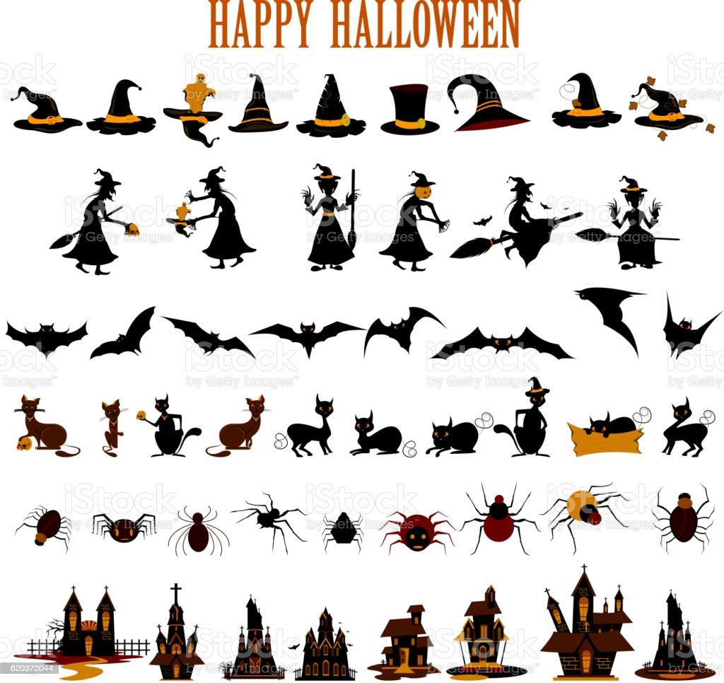 Happy Halloween scary object happy halloween scary object - stockowe grafiki wektorowe i więcej obrazów bez ludzi royalty-free