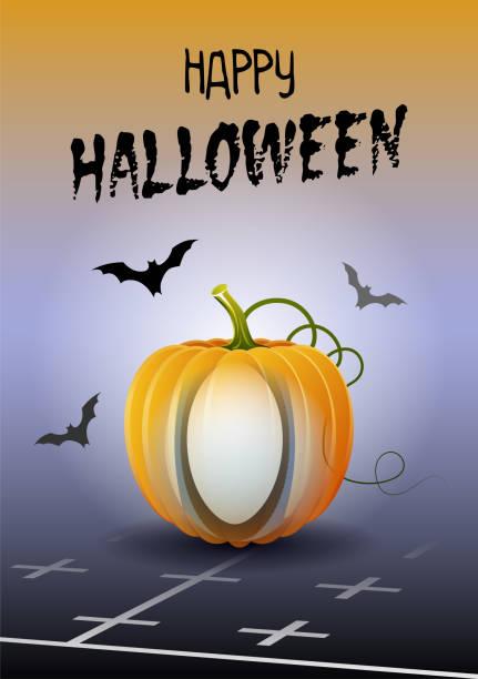 illustrations, cliparts, dessins animés et icônes de joyeux halloween. carte de voeux de sport. rugby. - cage animal nuit