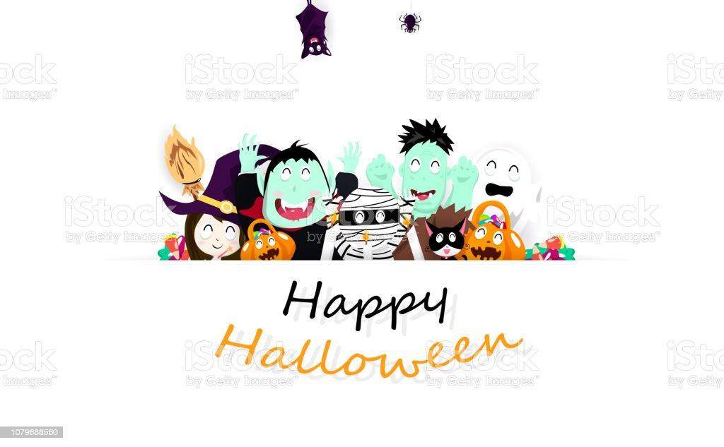 Ilustración De Feliz Halloween Arte De Papel De Fiesta