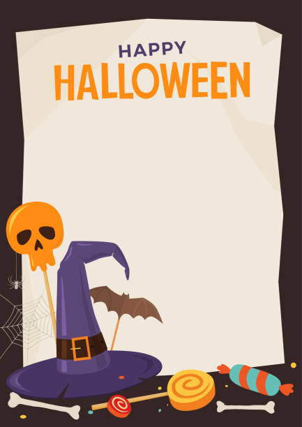 royalty free halloween menu template clip art vector images