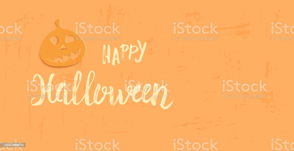 happy halloween template with paper cut shapes vector illustration royalty free happy halloween