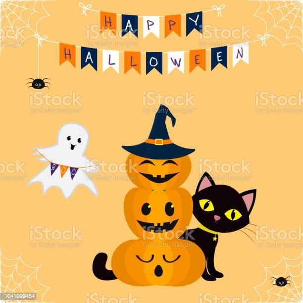 Happy halloween three pumpkins on each other in the hat of a witch vector id1041099454?b=1&k=6&m=1041099454&s=612x612&h=fw1kbgrq9wihaks0pzonwheezbmuh 8rgmhis2yvvj0=