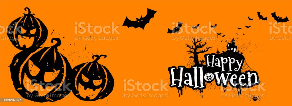 Happy Halloween Typography, Scary, Horror,Vector Illustration. Royalty Free  Stock Vector