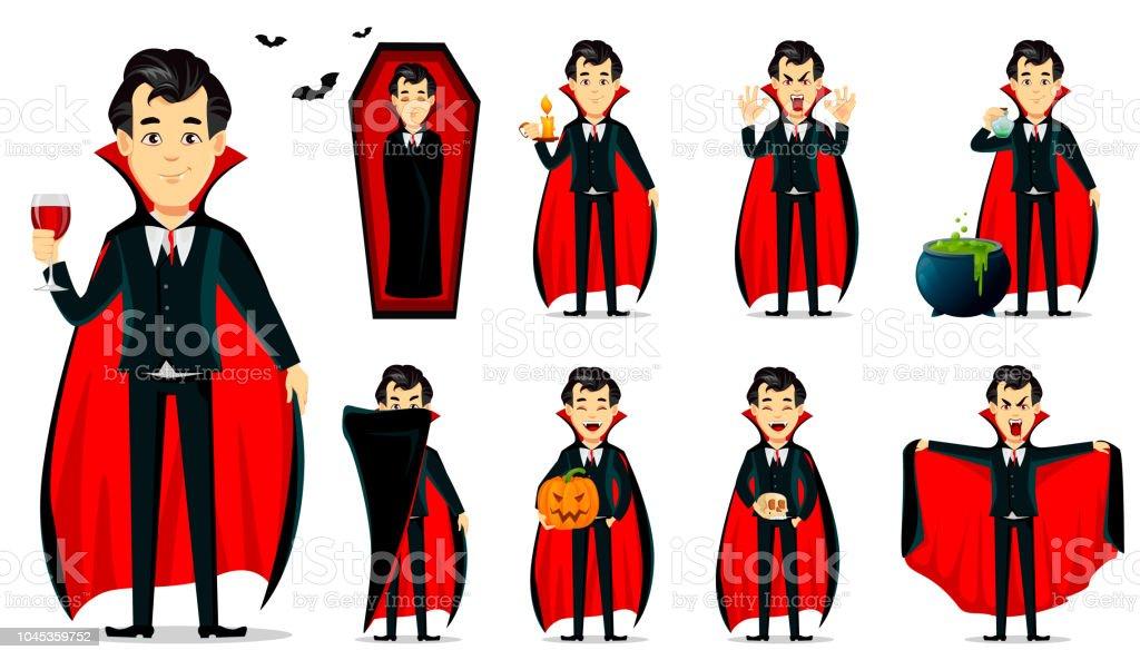 楽しいハロウィンをお過ごし下さい吸血鬼漫画のキャラクター お祝いの