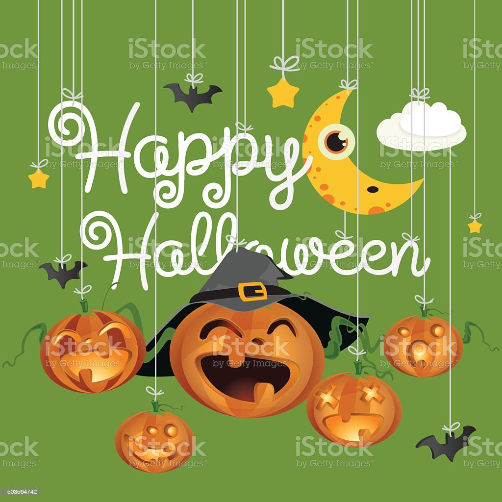 Happy Halloween vector art illustration
