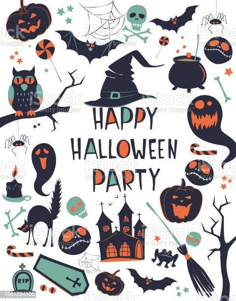 Happy halloween vector illustration background frame border pattern vector id1051294100?b=1&k=6&m=1051294100&s=612x612&h=9iflwzu5nkchh6kd3qotwrvu1r0jfd 9almddye0cto=