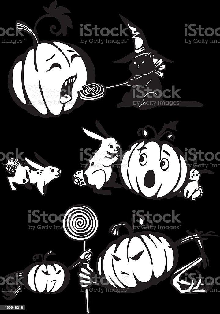 Happy Halloween - vector set. royalty-free happy halloween vector set stock vector art & more images of autumn