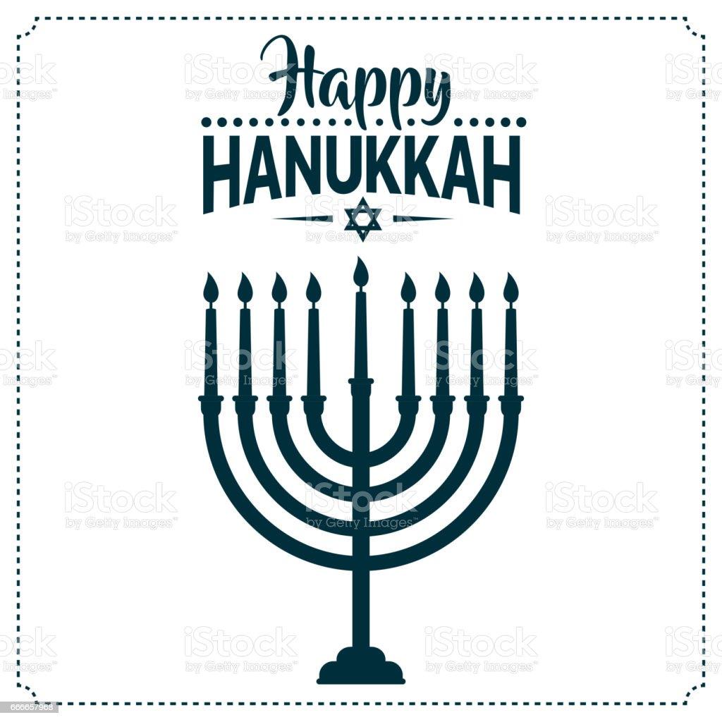 Happy Hanukkah background cover, card celebration text. vector art illustration