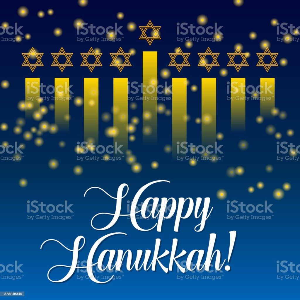 Happy hanukkah greeting card lights on dark stock vector art more happy hanukkah greeting card lights on dark royalty free happy hanukkah greeting card lights m4hsunfo