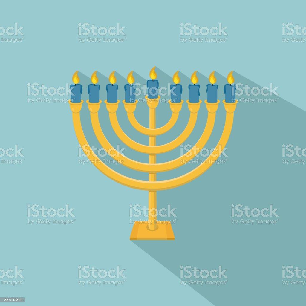 Happy Hanukkah Hanukkah Menorah Icon Stock Vector Art More Images