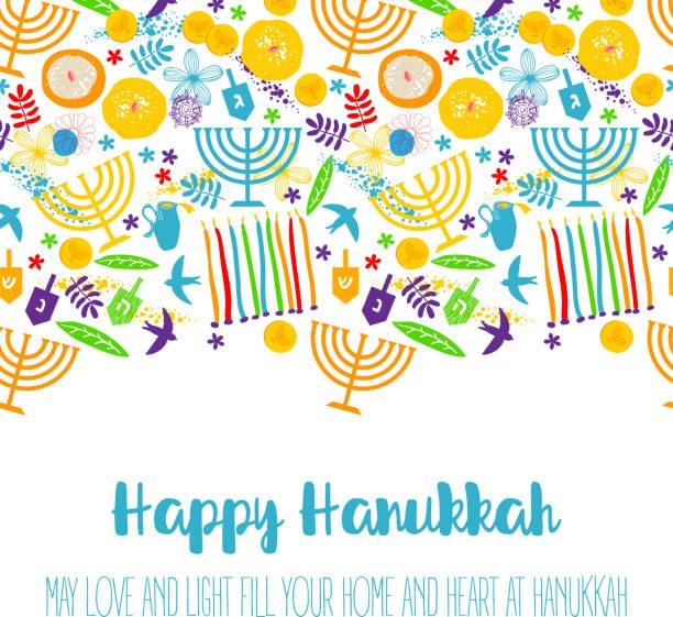 ilustraciones, imágenes clip art, dibujos animados e iconos de stock de feliz hanukkah, navidad de fondo judío - jánuca